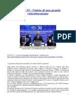 COVID19 - L'Inizio Di Una Grande Ristrutturazione