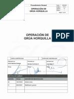 P-714 Rev. 0.1 Procedimiento Operación Grúa Horquilla