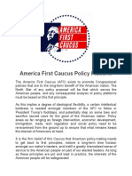 America First Caucus Policy Platform FINAL 2