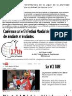 Bulletin d'information de la LJCQ 2 février 2011
