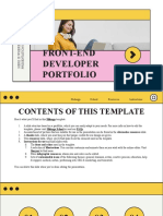 Front-End Developer Portfolio by Slidesgo