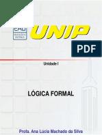 Slides de Aula – Unidade I - Lógica Formal