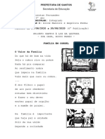 6- Projeto Santos a Luz - Cordel em familia