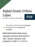 Rafael Simón Urbina López - Wikipedia, la enciclopedia libre
