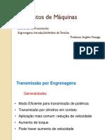 Elementos de Máquinas - Aula 4 e 5 - Elementos de Transmissão - Engrenagens