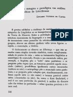 Viveiros de Castro. As categorias de sintagma e paradigma nas analises miticas de Levi-Strauss (1973)