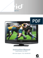AS-32HD1 81cm (32 inch) LCD HD TV VIVID Instruction Manual