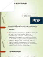 Apresentação de Dermatose ocupacional