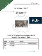 Evaluacion de Estabilidad de Taludes Tajo Sur Oxidos-Santa Rosa_Actualizacion_Nov_2020