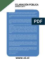 """DECLARACION PUBLICA CASO ARETAGA """"OPCIÓN INDEPENDIENTE"""""""