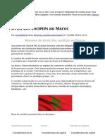 Droit des sociétés au Maroc - Cours de droit