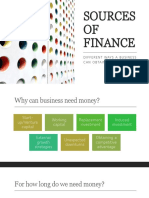 3.1 - Sources of finance