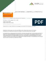 HISTOIRE D'UN DIALOGUE IMPOSSIBLE  J. KRISTEVA, J. LOTMAN