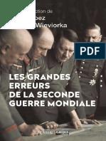 Collectif - Les Grandes Erreurs de La Seconde Guerre Mondiale (1)