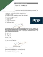Chapitre I - Calcul vectoriel