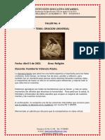 GUIA  5 etica religion ORACION UNIVERSAL