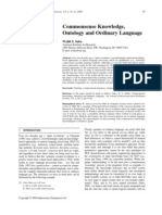 Commonsense Knowledge, Ontology and Ordinary Language