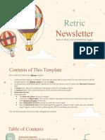 Retric Newsletter by Slidesgo