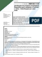 NBR 11134 - Esterilizacao de produtos hospitalares Requisitos para validacao e controle de rotina