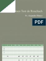 PSICOGRAMA -Resumen Test de Rorschach 2011
