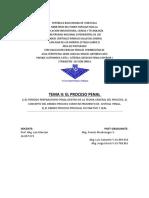 ANALISIS TEMA II EL PROCESO PENAL
