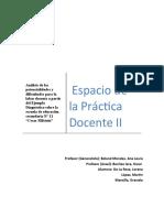 Análisis de las potencialidades y dificultades para la labor docente a partir del Ejemplo Diagnóstico