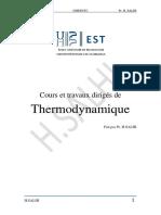 Cours de Thermodynamique 2020