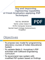 Measuring and Improving Software Engineering Capability of Fresh