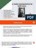 LA TEORÍA ADMINISTRATIVA DE HENRI FAYOL