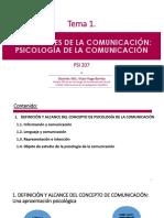 Definición de Psicología Comunicación T-1