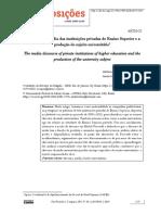 Artigo - O discurso da mídia das instituições privadas de Ensino Superiore a produção do sujeito universitário
