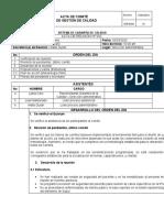 ACTA DE COMITÉ DE GESTIÓN DE CALIDAD  CIB ENERO 2020