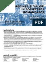 Credinte Si Valori in Societatea Romaneasca 13900100