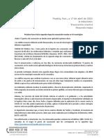 BOLETÍN 093 (2da.etapa de Vacunación en 41 Mpios) Sábado 17 de Abril Del 2021