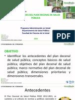 Generalidades y Antecedentes Pdsp