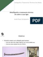 Metalografia do cobre e suas ligas2020