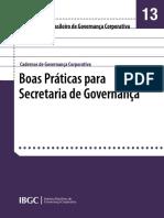 13 - Boas práticas para secretaria de governança