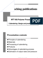 PVC Calender Film process