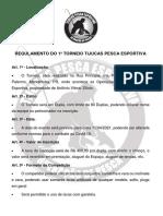 REGULAMENTO DO 1º TORNEIO TIJUCAS PESCA ESPORTIVA-1