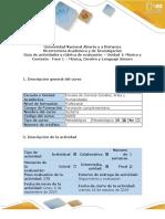 2.Guía de actividades y rubrica de evaluación - Fase 1 - Música, Cerebro y Lenguaje Sonoro