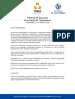 Informe de Situación Sobre Coronavirus COVID-19 en Uruguay