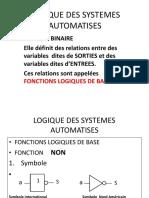 LOGIQUE DES SYSTEMES AUTOMATISES 1ABTS