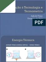 Introdução à Termologia e Termometria - 3 EM