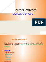 week6-Computer Hardware (Output Devices)