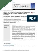 1 Factores de Riesgo Asociados a Mortalidad en Pacientes Sometidos a Cirugía Cardíaca - Mio - Acta Col Cuid Int 2016