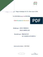 Rapport de Stage 2016 Ctt Bouazzer Thierno + Abdellah = Bonne Note Inchaalah (Enregistré Automatiquement)