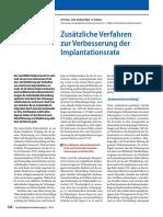 Zusätzliche Verfahren zur Verbesserung der Implantationsrate