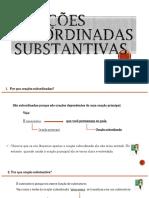3ª Série EM - Power Point Orações Subordinadas Substantivas