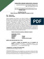 Modelo Demanda Civil de Accesión - Autor José María Pacori Cari