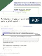 Artículos, trucos y comentarios sobre el Crystal